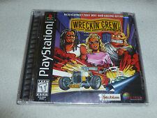 FACTORY SEALED PLAYSTATION PS1 VIDEO GAME WRECKIN CREW BRAND NEW NFS 3D RACING