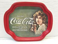 Small Coca Cola Serving Tip Tray Red Tin