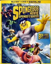 BRAND NEW BLU-RAY-DVD COMBO // THE  SPONGEBOB MOVIE // SPONGE OUT OF WATER //