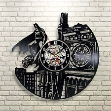Batman Super Hero DC Comics Arkham Dark Knight Marvel  Black Decor Wall Clock