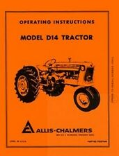 ALLIS CHALMERS D14 D-14  Operators Manual Before 19001