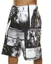 BOB MARLEY SURF BOARD SWIM SHORTS SIZE 32 NWT