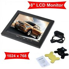 "Portable 8"" TFT LCD Color HD Monitor Screen VGA BNC Vedio Input For PC CCTV DVD"