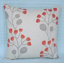 "Shabby Chic Retro Style Cushion Cover/16""x16""/John Lewis SEEDLINGS Fabric,Red"