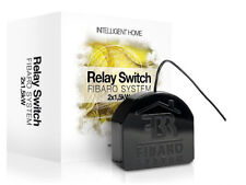 FIBARO - Relay Switch 2x1,5kw on/off FGS-222, Z-Wave Home Automation