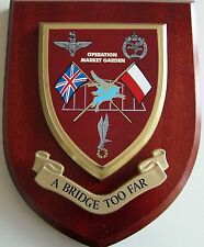 BRIDGE TOO FAR ARNHEM PARA SAS AIRBORNE CLASSIC HAND MADE REGIMENTAL MESS PLAQUE