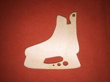 10 x ICE-HOCKEY SKATES WOODEN SHAPES EMBELLISHMENRS BLANKS HANGING CHRISTMAS TAG