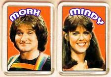 MORK and MINDY pair of SMALL FRIDGE MAGNETS - RETRO COOL!