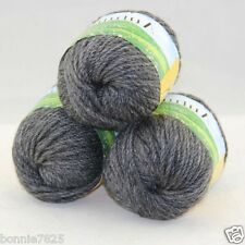 Sale New 3 ballsx50g Hand Knitting Worsted Quick Yarn Soft Wool Silk Velvet 208