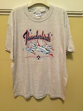 Thunderbirds Mens XL T-Shirt United States Air Force USAF 2001 F-16 Aircraft Jet