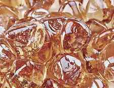 "10 Lbs of 1"" Fire Glass Diamond Shaped Champagne Fireglass Fire Pits Fireplace"