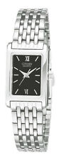Citizen Quartz Rectangular Black Dial Women's Watch EJ5850-57E