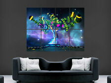 TRIPPY TREE POSTER ABSTRACT WALL ART SPHERES LARGE IMAGE GIANT