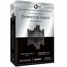 Masterpiece Downton Abbey Complete Season 1 2 3 4 5 Series DVD Set Collection R1