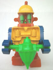 1970s TOPPER DING A LING  CONSTRUCTO  ROBOT WITH ORIGINAL BACK PLATE VINTAGE TOY