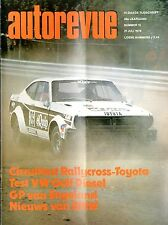 1978 AUTO REVUE MAGAZIN 15 RALLY TOYOTA AR TEST VW GOLF DIESEL BMW 635 CSI
