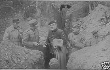 French & Italian Army Officers in Trenches World War 1, 6x4 Inch Photo Reprint 1