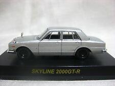 NISSAN SKYLINE 2000GT-R Silver Kyosho 1:64 Scale Diecast Model Car