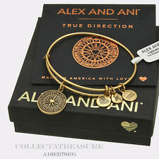 Authentic Alex and Ani True Direction Rafaelian Gold Charm Bangle