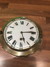 Vintage Brass French Ships 8 day Bulkhead Clock Maritime Marine Nautical Boat