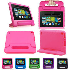 "For Amazon Kindle Fire 7"" 5th Gen 2015 Light Shockproof Cover Kids Case Hot Pink"
