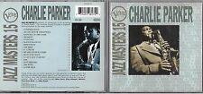 CD 16 TITRES CHARLIE PARKER BEST OF 1993 JAZZ MASTERS 15 EUROPE Verve Records