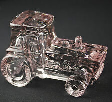 Farm Tractor Glass Figurine, Tractor figurine, Farm equipment