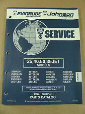 1992 OMC JOHNSON EVINRUDE 25 40 50 35JET HP OUTBOARD MOTOR PARTS CATALOG 434984