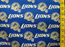 NFL DETROIT LIONS 100% COTTON FABRIC BY THE  1/4 YARD