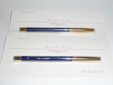 2 Mary Kay MK Wood Eye Defining Pencil Sapphire Blue Rare Discontinued NIB VHTF