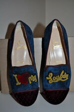 NEW $1,295+ Christian Louboutin My Love Velvet  Flat Loafer Shoes Sz 35 / 5