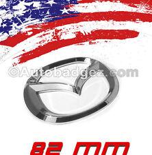 1 - NEW Mazda 2 3 5 6 CX-5 Rear Badge Emblem RX8 RX3 Speed Miata MAZDA 82mm CHR