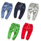 Lovely Toddler Kids Boy Girl Trousers Cute Baby Cotton Soft Trousers Harem Pants