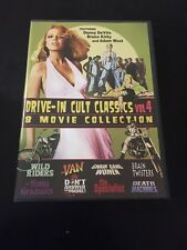 DRIVE-IN CULT CLASSICS VOLUME 4 DVD 8 MOVIE COLLECTION ON 4 DISCS