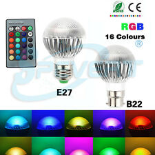 5W E27 Aluminum RGB LED Spot Lights Dimmable 16 Colors Ceiling Lamps With Remote
