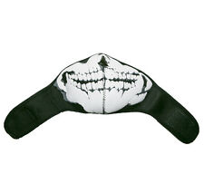 Black Neoprene Thermal Half Face Mask – Skull Design