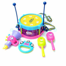 Hot 5pcs Roll Drum Musical Instruments Band Kit Kids Children Toy Gift Set New