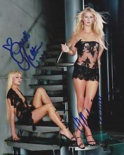 Paris and Nicky Hilton Autographed 8x10 Photo (Reproduction)