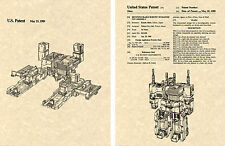 Transformers METROPLEX US Patent Art Print READY TO FRAME! Combiner Decepticon