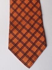breite Krawatte von JAN PAULSEN - reine Seide - kupfer schwarz Karo - Vintage