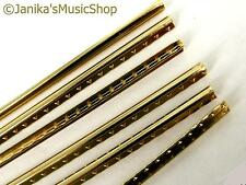 Brass Fretwire fret wire guitar 1.5mm crown 0.75mm high 6x300mm pieces
