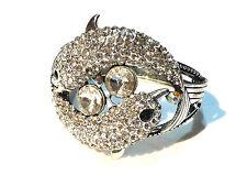 Bijou alliage argenté bracelet dauphins cristal bangle
