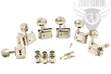 Kluson 6-In-Line Vintage Style Double Line Locking Tuners - Nickel (SET of 6)