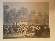 Planche gravure Réjouissances publiques Par Louis Léopold Boilly