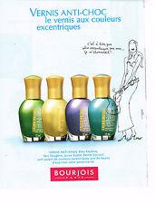 PUBLICITE ADVERTISING 014   1997   BOURJOIS   cosmétiques vernis à ongles