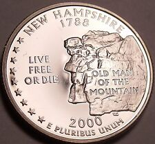 Incredible Cameo Proof 2000-S New Hampshire State Quarter~Free Shipping~