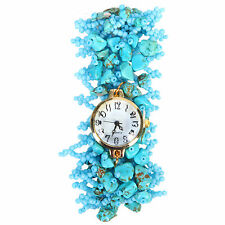 Blue Beads Stylish trendy Watch for Women Girls
