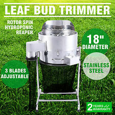 "18"" Hydroponics Leaf Bud Trimmer Machine Grow Light Heavy Duty Reaper Twigs"