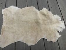 sheepskin shearling leather hide Taupe Brown short hair w/mottled suede back