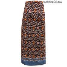 Fabric Thai Laos Skirt Sarong Silk Multicolour Women Multi-color Free Size